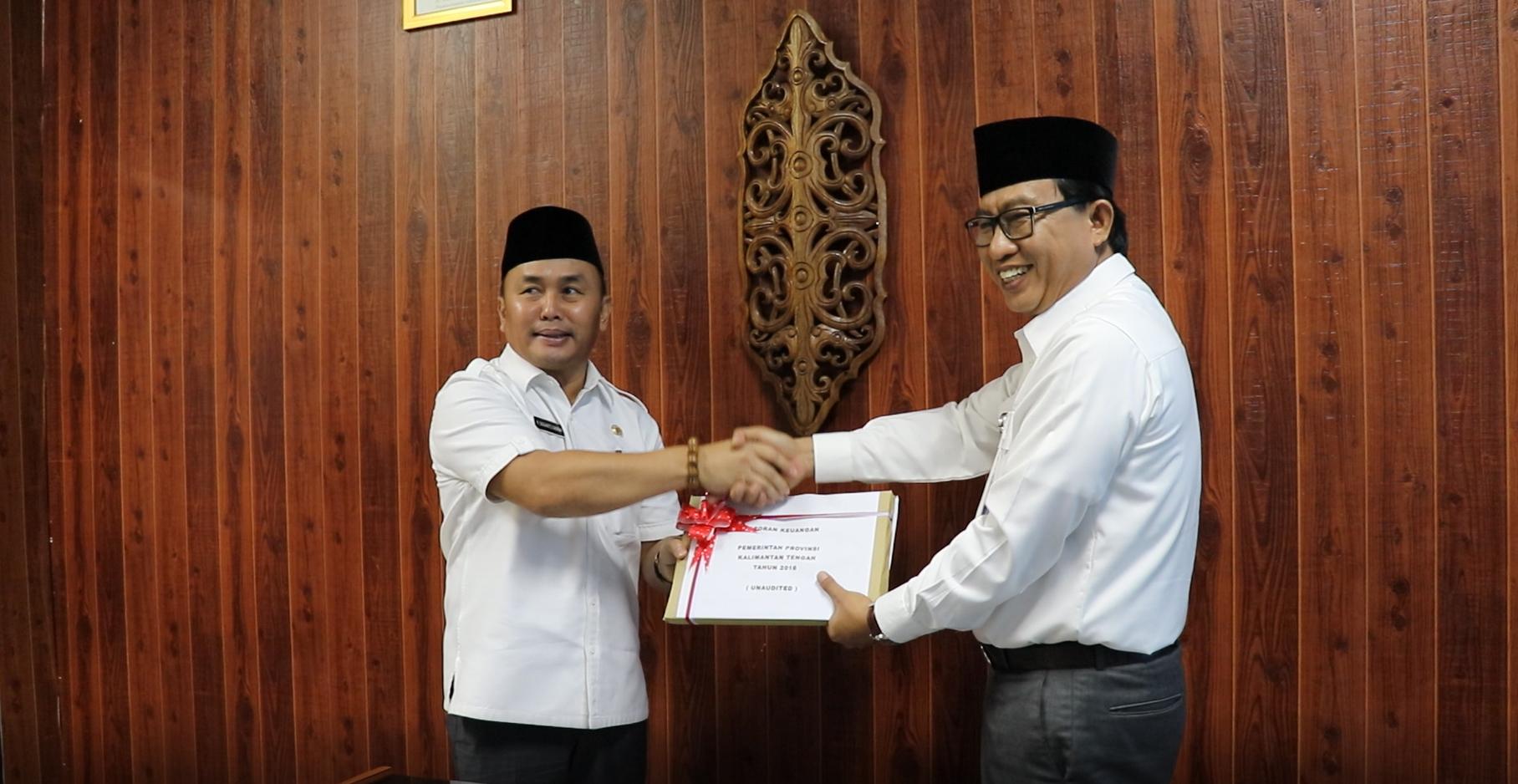 Penyerahan LKPD Unaudited TA 2018 Pemerintah Provinsi Kalimantan Tengah