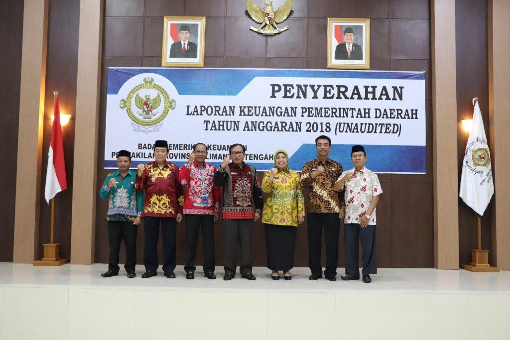 Enam Pemerintah Daerah Telah Menyerahkan LKPD (Unaudited) TA 2018 kepada BPK Perwakilan Provinsi Kalimantan Tengah