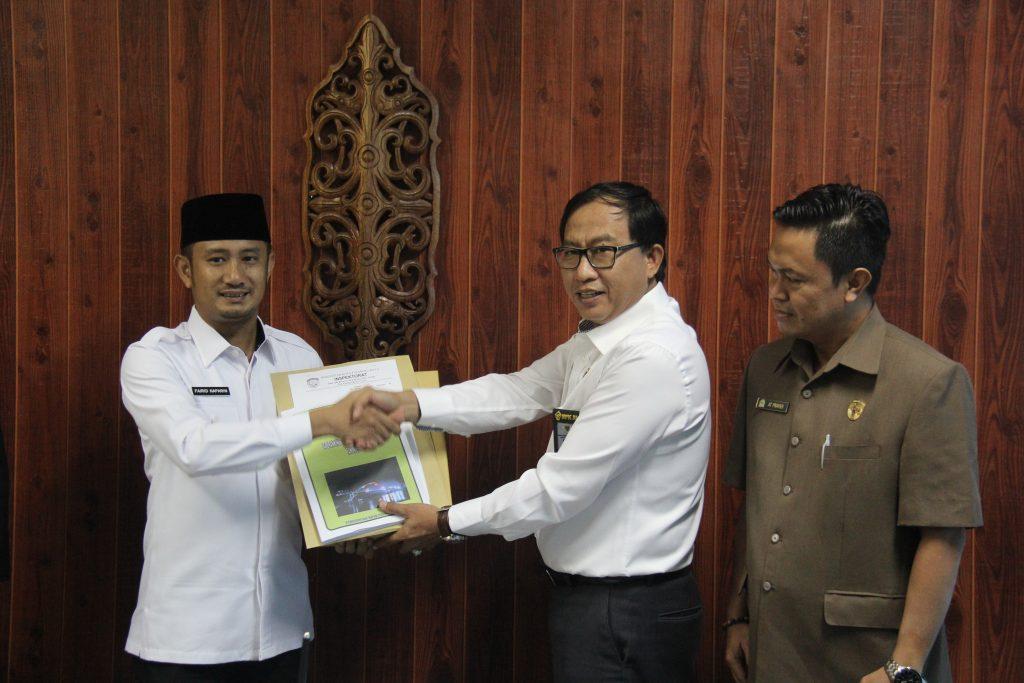 Penyerahan LKPD Pemerintah Kota Palangka Raya TA 2018 (Unaudited) kepada BPK Perwakilan Provinsi Kalimantan Tengah